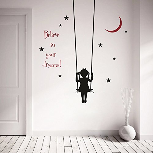 Decor Kafe Believe Motivational Quotes Wall sticker Standard Size- 122cm X 86cm Color - Multicolor (Suitable for - Bedroom, Kitchen , Bathroom , or any type of smooth Surface)