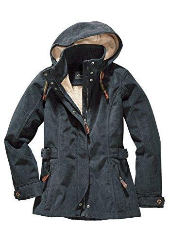 Eddie Bauer Damen Softshell-Jacke in Cord-Optik, Gr. 36, Navy Bauer Softshell