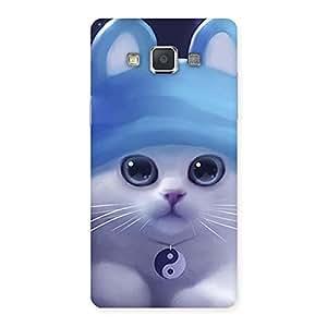 Stylish Tie Chi Cat Multicolor Back Case Cover for Galaxy Grand 3