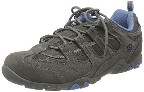 Hi-Tec Quadra Classic - Zapatillas de Senderismo para Mujer, Gris Grey/Charcoal/Cornflower 051, 39...