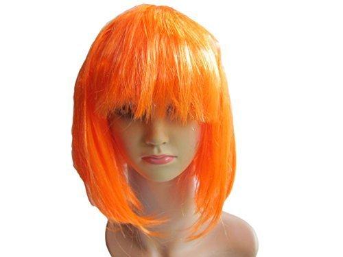 7 Farben: Kostüm Junggesellinnenabschied Nacht Bob Stil Erwachsene-damen Synthetisch 20er Flapper Sexy Perücke von Fett-Catz-Kopie-catz - Orange party (Sexy Flapper)