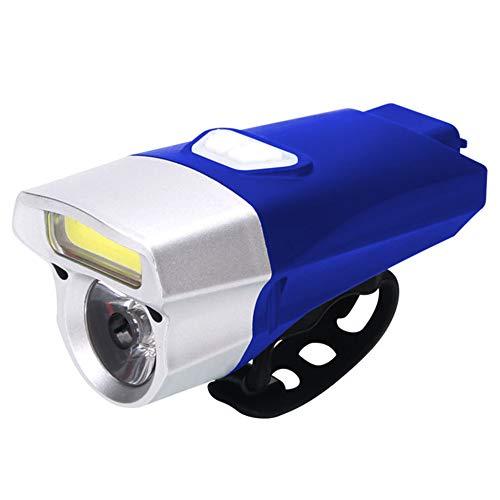 PLIENG LED Bike Luce Ricarica USB Impermeabile Super Bright Illumination Equitazione Torcia Facile da Installare-Escursionismo, Campeggio, A Piedi Il Tuo Cane, in Bicicletta,Blue