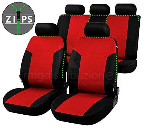 rmg-distribuzione Coprisedili per T-ROC Versione (2017 - in Poi) compatibili con sedili con airbag, bracciolo Laterale, sedili Posteriori sdoppiabili R02S0972
