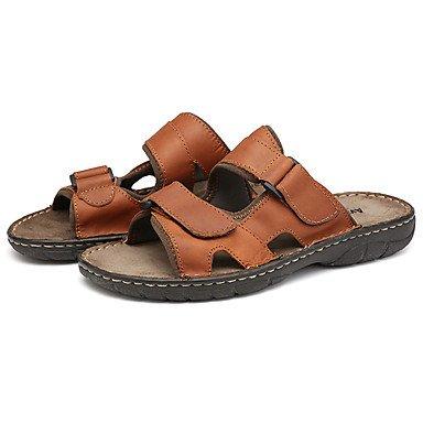 Scarpe da uomo in pelle Nappa Outdoor / Casual Pantofole & amp;Outdoor / piano casuale Hook & amp tallone; sandali US6-6.5 / EU38 / UK5-5.5 / CN38