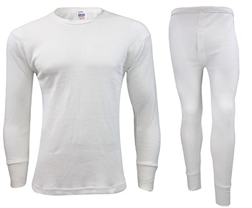064499571d56 Gaffer Hombres Boys Thermal Long Johns Camiseta Top Chaleco Ropa Interior  Bottoms Pantalones de esquí llevar 2 x Full Set-White L