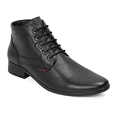 Red Chief Men's Black Leather Formal Shoes-10 UK/India (44 EU) (RC3545 001)