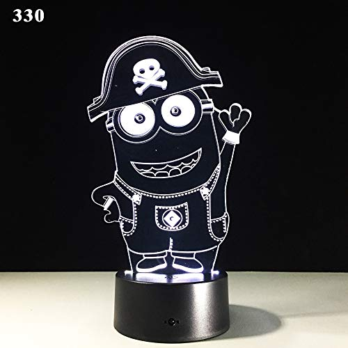 Sproud Minion pirate 16 control remoto de color 3D Night Light para...