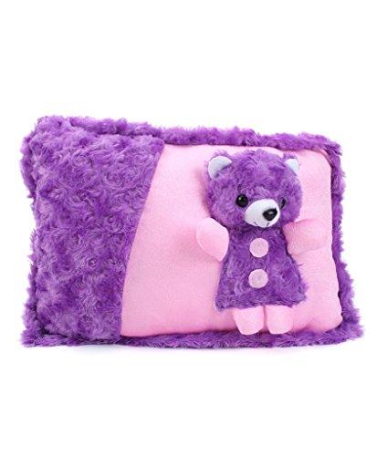 Tickles Purple Cute Teddy Cushion Stuffed Soft Plush Toy 38 cm