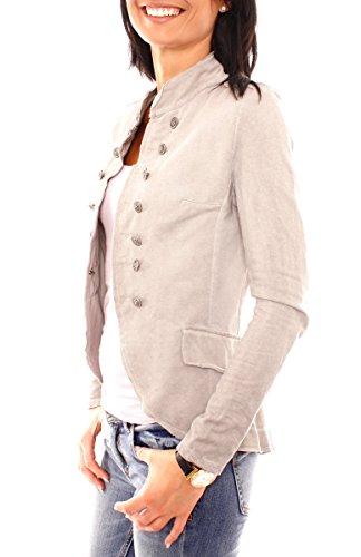 Easy Young Fashion Damen Vintage Military Jerseyblazer Fango Hell