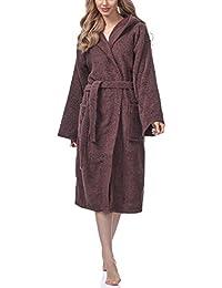 Ladeheid Peignoir de Bain Éponge 100% Coton Femme LA40-102