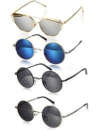 Retro Sonnenbrille Edelstahl Anhänger schwarz blau weiß