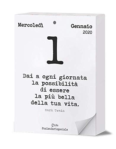 Calendario geniale 2020 maxi. leggi la frase del giorno con i pensieri filosofici nel formato maxi