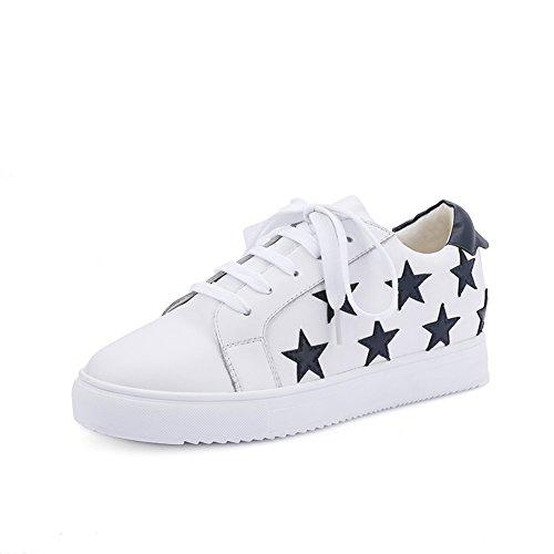 Automne cuir pleine chaussures de sport/ Stars chaussures en cuir dentelle tendance A