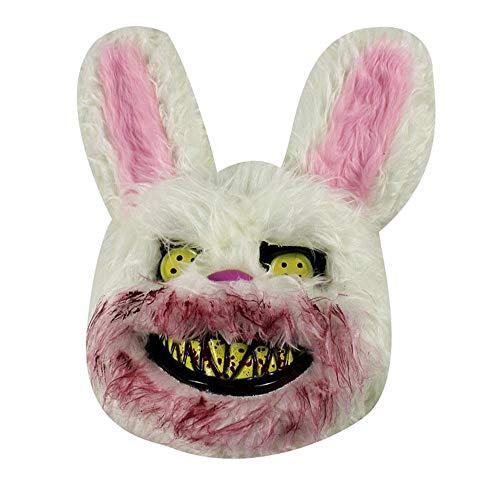 ige Plüschmaske, Gruselige Hasenmaske, Killer Bunny Maske, gruselig ()