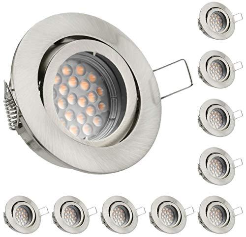 10er LED Einbaustrahler Set - LED-Einbauspot Produktbild