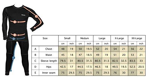 Starks Funktionsshirt Herren Coolmax - Leichte Thermo Funktionsunterwäsche, Kompressionsshirt, Langarm Unterwäsche - Sportshirt Für Motorrad, Fahrrad, Long Sleeve - Ideal Für Sommer – Schwarz, XXL - 6