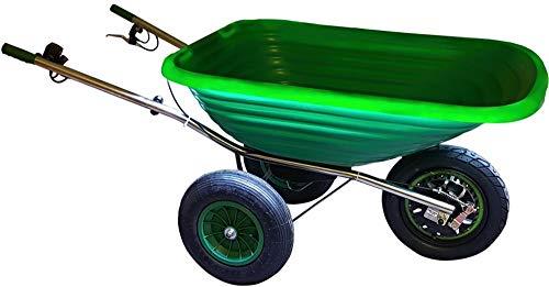 smartwiel - deluxe motocarriola semovente, carriola elettrica a motore,verde 185 lt,carriola a batteria,500 w