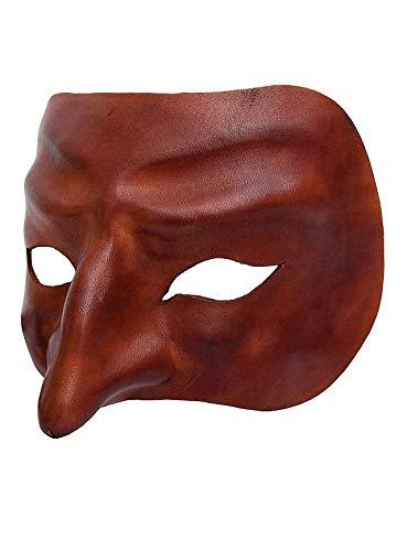Maske Pantalone Und Kostüm - Andracor Venezianische Maske - Pantalone de Cuoio Commedia Dell´Arte Ledermaske