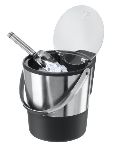Oggi Double Wall Ice Bucket with Flip Lid and Stainless Ice Scoop by Oggi