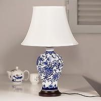 splendida lampada blu e bianco da tavola