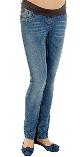 CHRISTOFF Maternité Jeans de maternité Femmes de maternité Pantalons Jeans Droit Bleu (bluewash)