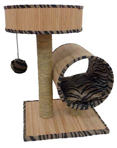 Kaxima Kratzbaum Katzenbaum Katze Baum Katze Möbel Bambus Holz Pet-Produkte 40 * 45 * 65 cm Matten