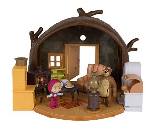 Simba - 109301632 - Masha et Michka - Set de Jeu Macha - + 2 Figurines et 15 Accessoires