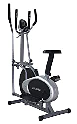 Kobo Exercise Bike / Exercise Cycle Orbitrac Fitness Home Gym Upright Ab Care Orbitrack (Silver:Black)