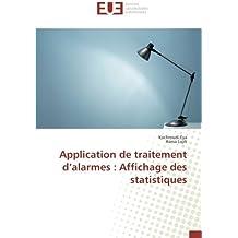 Application de traitement d'alarmes : Affichage des statistiques