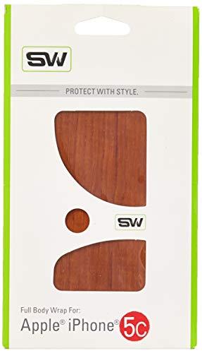 Slickwraps Wood Series Schutzfolie für iPhone 5C, Teakholz, Einzelhandelsverpackung, Teak