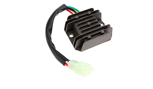Perfeclan 5 wires 5 pins Voltage Regulator Rectifier for 125cc 150cc 200cc ATV Scooters Go Karts Quad 4 Wheelers Moped