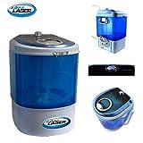 Version 2019: Mobile Mini-Waschmaschine 2,5 KG Camping/Reise Waschmaschine Toplader (weiß)