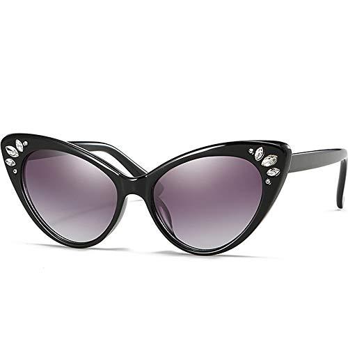Taiyangcheng Cat Eye Sonnenbrille Frauen Strass Shades Sonnenbrille Weibliche Marke Vintage Kristall Cat Eyes Sunglass Uv400,A1