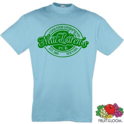 world-of-shirt Herren T-Shirt How I met your Mother Mac Larens Pub Hellblau