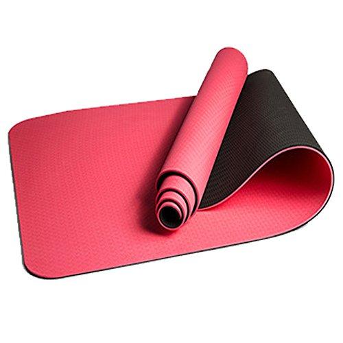 QYXANG Yogamatte Fitness Matte Trainingsmatte Anti-Tear und Rutschfeste Camping Pad 8mm Dicke Boden Trainingsmatten für Pilates/Übung / Gymnastik und mit Strap