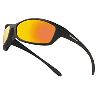 Bolle Spider Spectacles Safety Glasses Red Mirror Black Frame with Bag