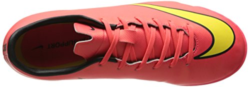 Nike Jr. Mercurial Victory V IC Unisex-Kinder Fußballschuhe Rot (Hyper Punch/Metallic Gold Coin-Black-Volt 690)