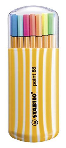 Stabilo Zebrui 8820-02 - Estuche con 20 puntafinas de colores