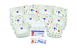 Bambinomio MioSolo Kit de Couche Blanc + Motif