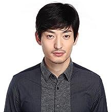 TT peluca personalidad de la moda pelucas frescas de los hombres pelucas de cabello natural