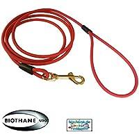 Bio de cuerda cuerda de arrastre de redonda biothane–10Metros de longitud, diámetro de 6,4mm, para perros grandes y pequeñas, suciedad y impermeable Perros cuerda de arrastre Lino, 17colores