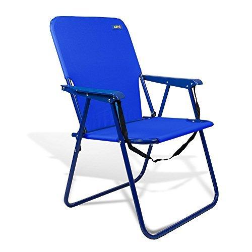 Copa Beach & geschlossen, Camping und stabile Stahl Stuhl 38,1cm Höhe mit Schulterriemen und Rückseite Tasche von JGR, Dark Blue D17B (Stuhl Rio Rucksack)