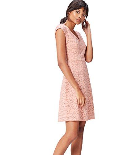 vestito rosa pizzo