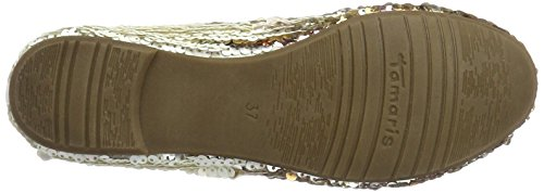 Tamaris 22144, Ballerine Donna Multicolore (GOLD COMB 943)
