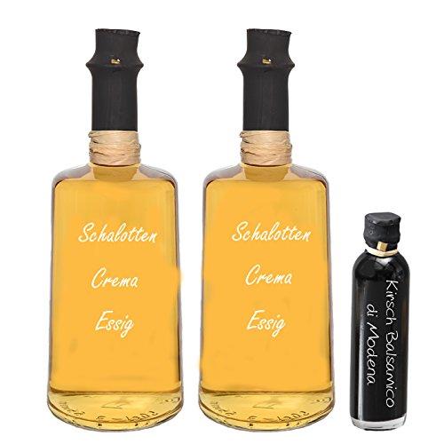 Wajos Schalotten Crema Essig 2x 0,25 ml I Sparset GRATIS dazu Oliv & Co. Kirsch Balsamico di Modena 40ml