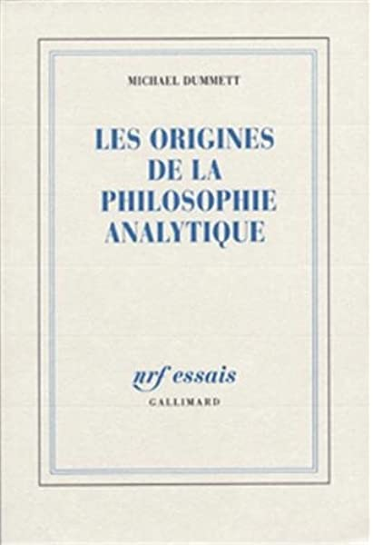 Amazon Fr Les Origines De La Philosophie Analytique Dummett Michael Livres