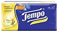 Tempo Pocket Handkerchief Soft and Sensitive - 4 Ply (9 Pulls, Pack of 8)