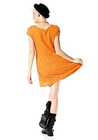 Material Girl Spitzenkleid orange Gr.40