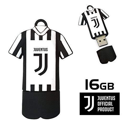 Techmade Juventus Chiavetta USB, Bianco/Nero