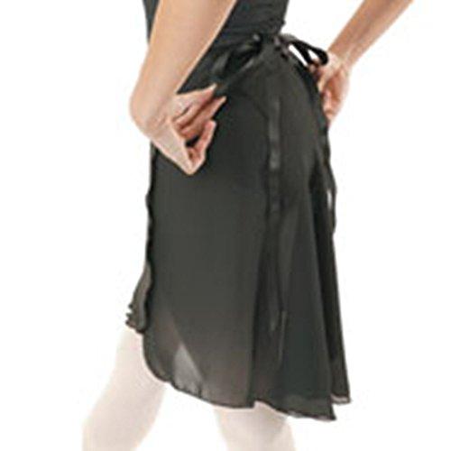 Capezio Georgette Lange Wrap Rock schwarz schwarz Für Erwachsene (Capezio Wrap)